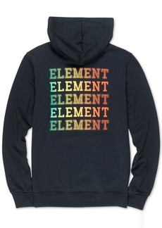 Element Men's Drop Logo-Print Fleece Hoodie