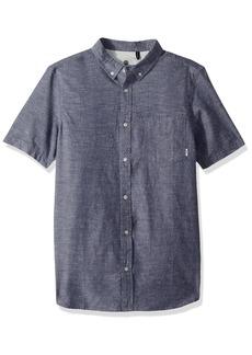 Element Men's Greene Neps Short Sleeve Woven Shirt  L