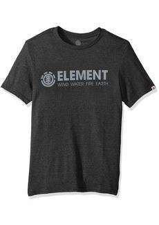 Element Men's Logo T-Shirt Heathered Colors Blazin Charcoal