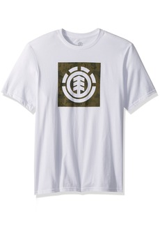 Element Men's Logo T-Shirt Solid Colors Block Camp camo Green L