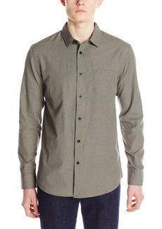 Element Men's Rickson Micro-Check Long-Sleeve Button-Front Shirt