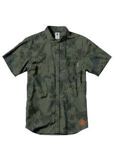 Element Men's Wendel Short Sleeve Woven Shirt Camp camo Green L
