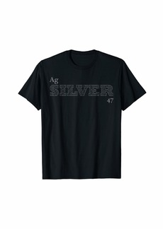 """Element Tees Periodic Table of the Elements """"Silver"""" T-Shirt"""
