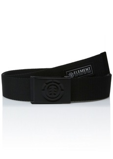 element Young Men's Leather Belts Accessory beyond all black/medium ONE