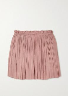 Elena Makri Antigone Draped Silk-tulle Mini Skirt