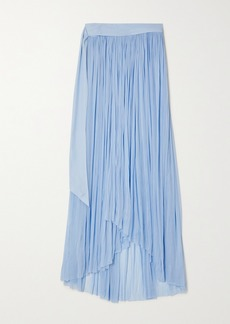 Elena Makri Delfis Draped Silk-tulle Skirt