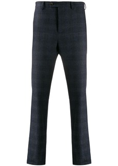 Eleventy checked tapered trousers