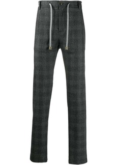 Eleventy checked trousers
