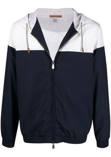 Eleventy colour-block bomber jacket