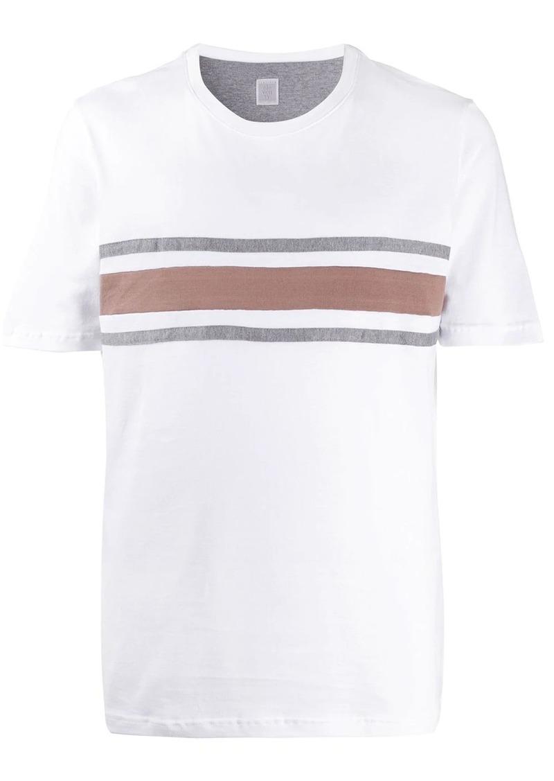 Eleventy crew neck striped T-shirt