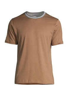 Eleventy Crewneck Cotton T-Shirt