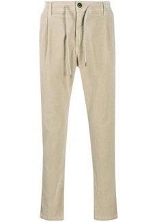 Eleventy drawstring corduroy trousers