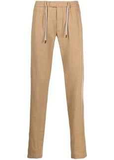 Eleventy drawstring waist linen trousers