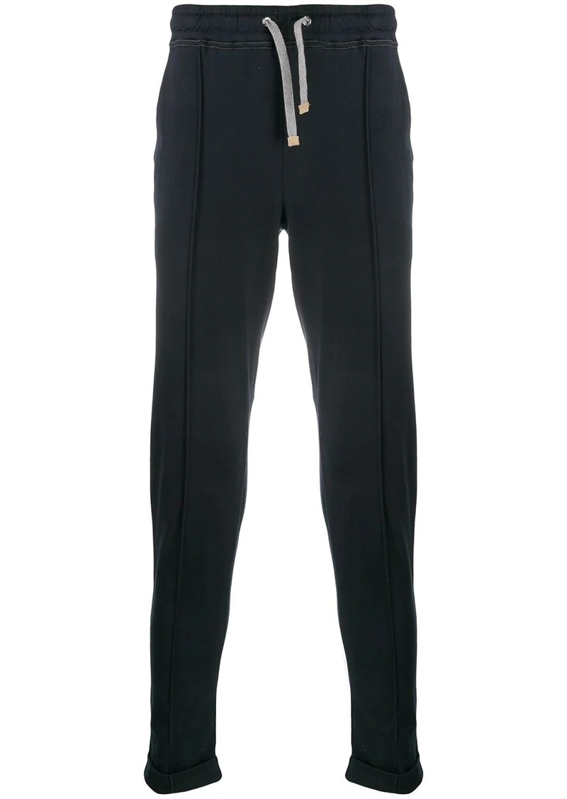 Eleventy drawstring waist track pants