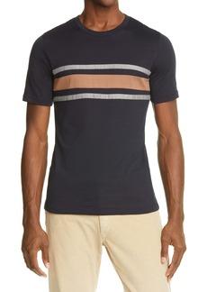 Eleventy Bar Stripe Slim Fit T-Shirt