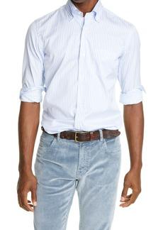 Eleventy Bengal Stripe Button Down Shirt