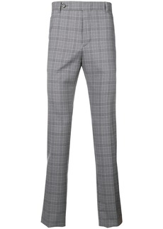 Eleventy checked slim fit trousers
