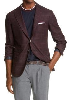 Eleventy Glen Plaid Loro Piana Wool & Cashmere Sport Coat