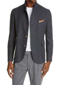 Eleventy Hybrid Wool Blend Twill Sport Coat