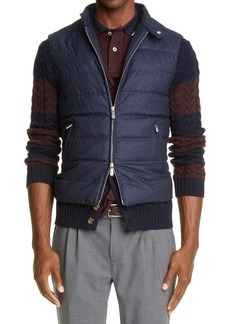Eleventy Loro Piana Storm System® Water Resistant Quilted Down Wool Vest