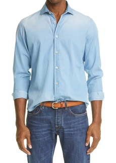 Eleventy Men's Chambray Button-Up Shirt