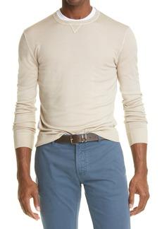 Eleventy Men's Merino Wool & Silk Crewneck Sweater