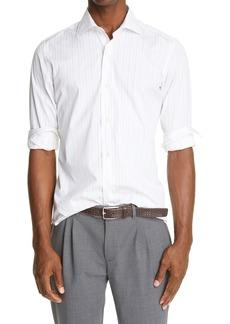 Eleventy Pinstripe Sport Shirt