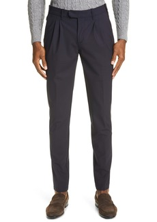 Eleventy Pleated Stretch Wool Dress Pants