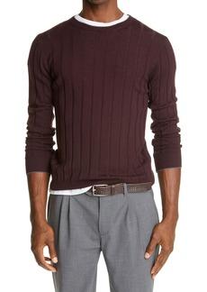 Eleventy Rib Crewneck Sweater