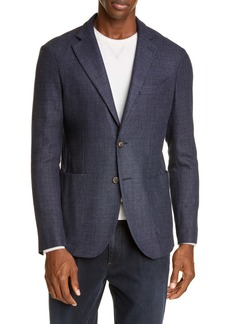 Eleventy Slim Fit Solid Wool Blend Sport Coat