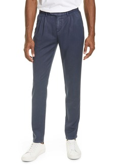 Eleventy Slim Fit Washed Wool Dress Pants