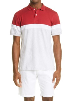 Eleventy Tricolor Short Sleeve Polo