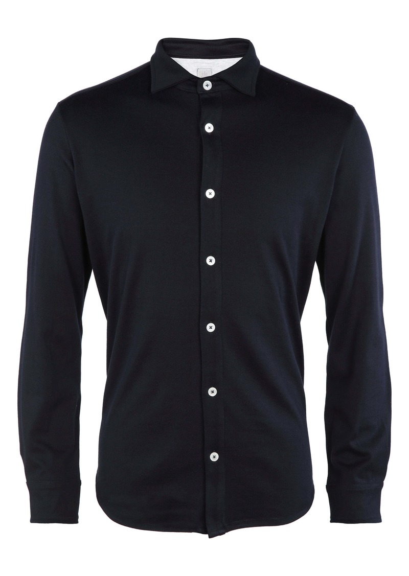 Eleventy Trim Fit Button-Up Shirt