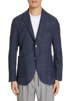Eleventy Trim Fit Herringbone Wool Blend Sport Coat