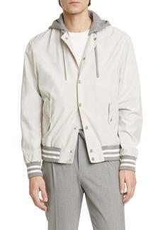 Eleventy Varsity Jacket with Removable Hood