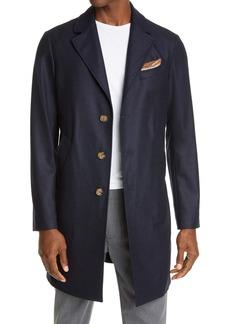Eleventy Wool & Cashmere Twill Overcoat