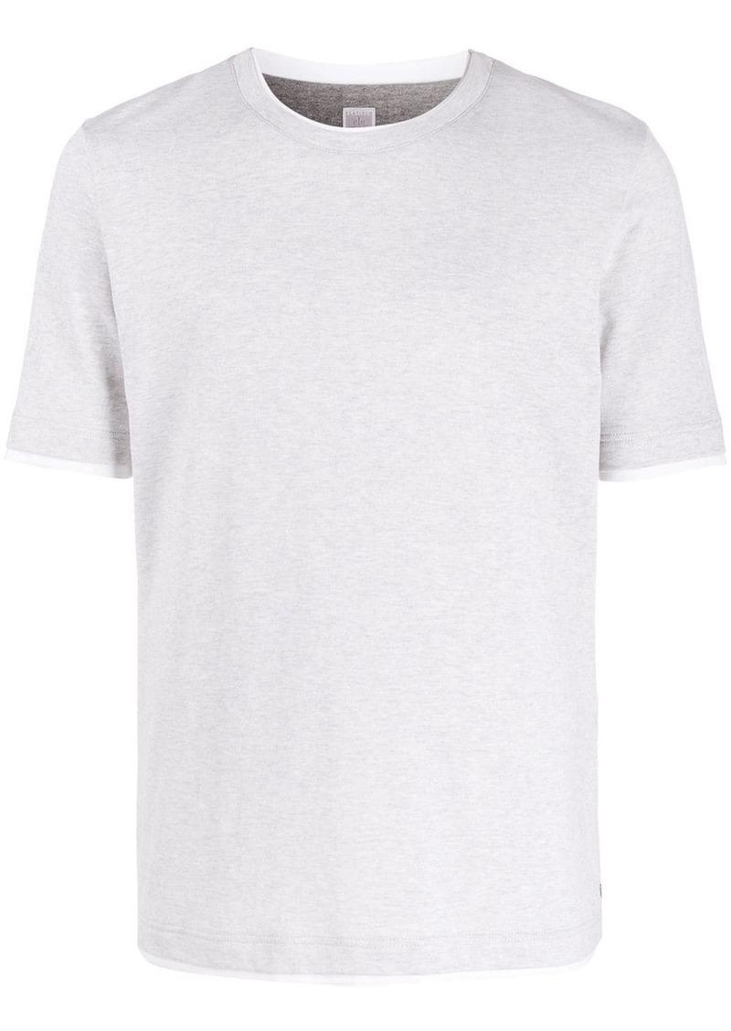 Eleventy layered-effect cotton T-shirt