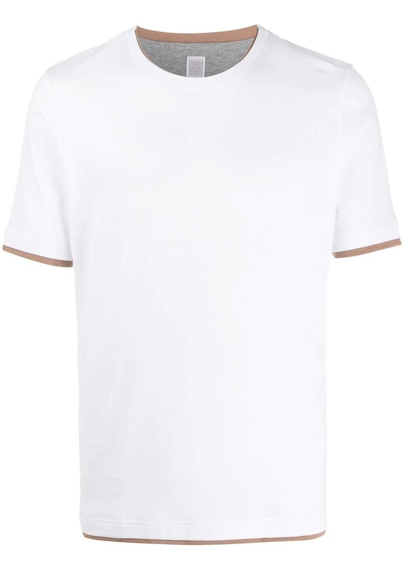 Eleventy layered-effect crew-neck T-shirt