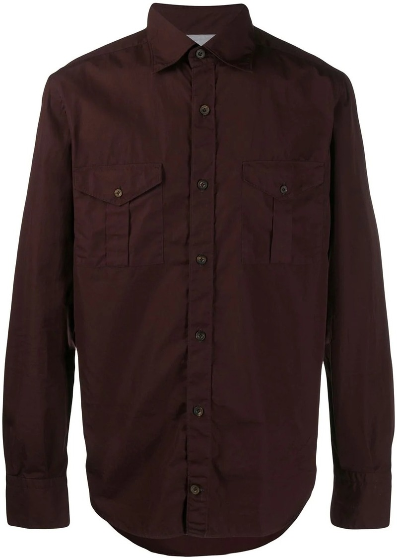 Eleventy long sleeved cotton shirt