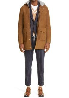 Men's Eleventy Stretch Wool Pinstripe Trousers