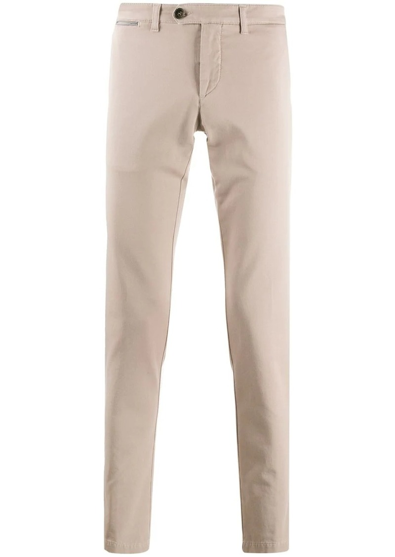Eleventy slim-fit mid-rise trousers