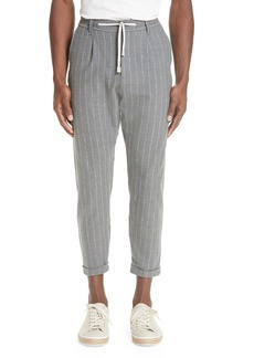Men's Eleventy Slim Fit Pleated Flannel Jogger Trousers