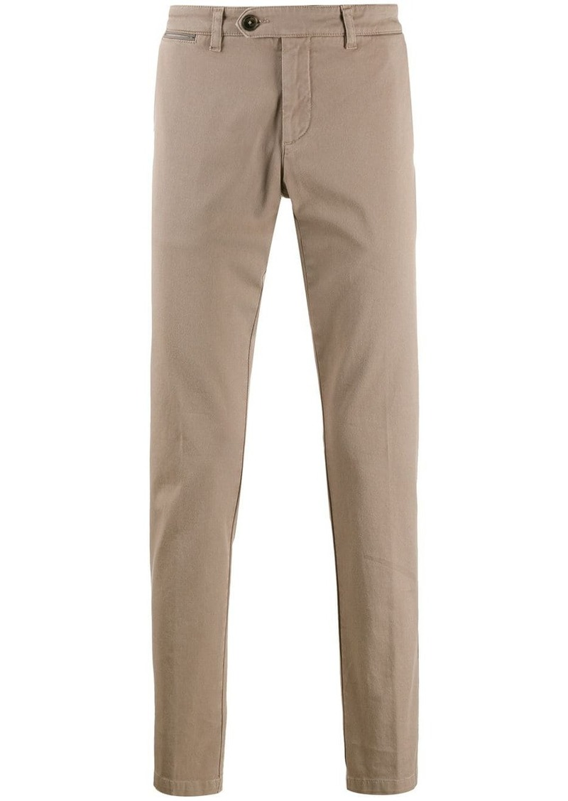 Eleventy slim-fit tapered-leg trousers