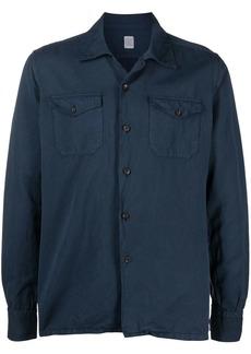 Eleventy spread collar cotton shirt