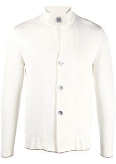 Eleventy stand-up collar cotton cardigan