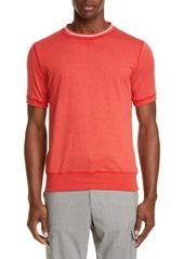 Eleventy Stripe Crewneck T-Shirt