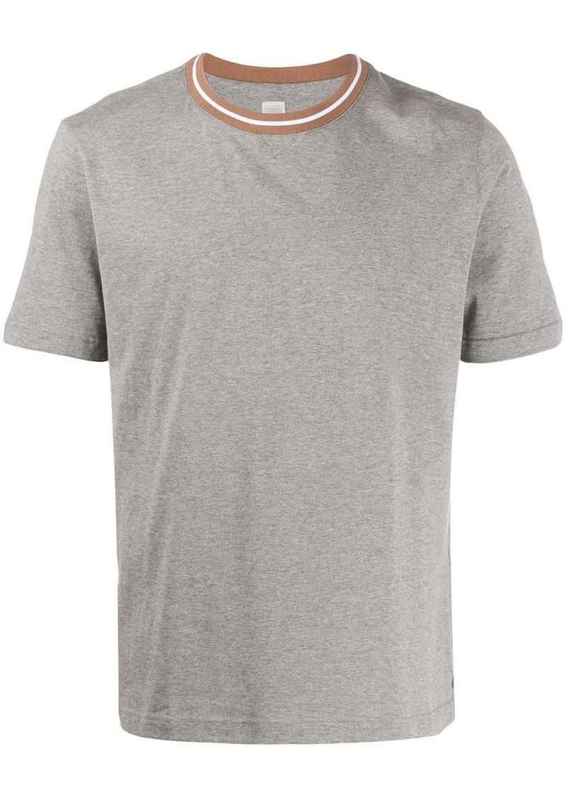 Eleventy striped neckline T-shirt
