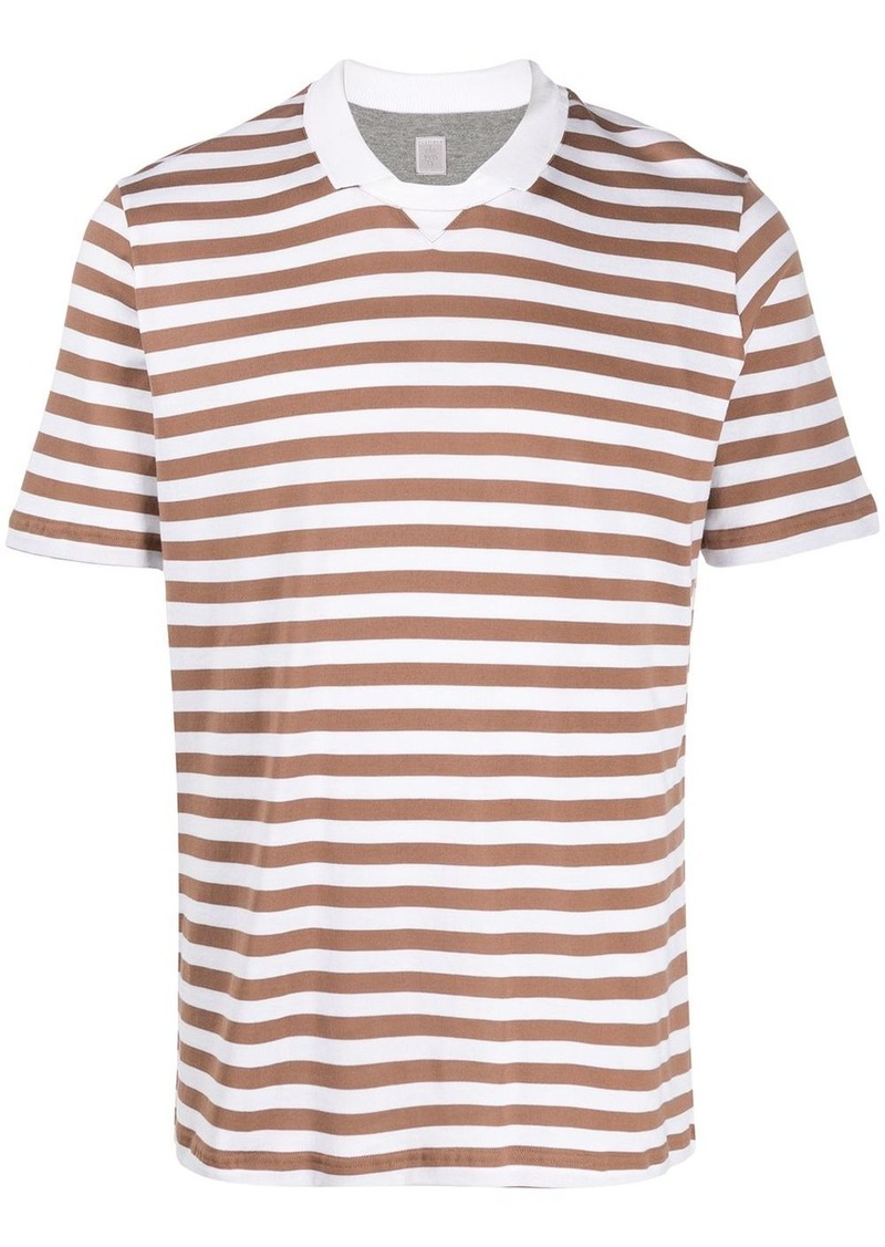 Eleventy striped print T-shirt