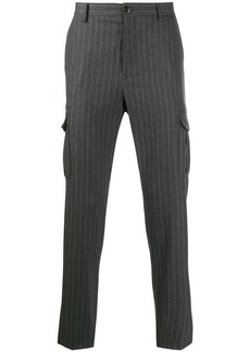 Eleventy striped tailored trousers