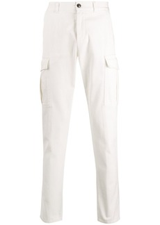 Eleventy trimmed straight-leg cargo trousers